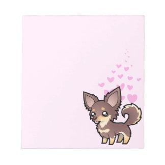 Chihuahua Love (long coat) Notepad