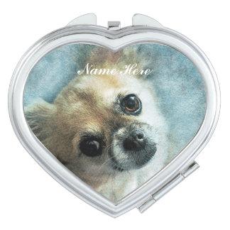 Chihuahua Love Travel Mirror