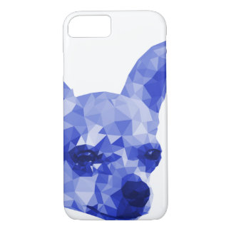Chihuahua Low Poly Art in Blue iPhone 7 Case