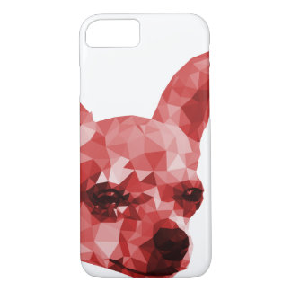 Chihuahua Low Poly Art in Red iPhone 7 Case