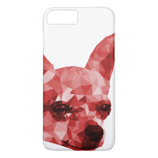 Chihuahua Low Poly Art in Red iPhone 7 Plus Case