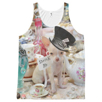 Chihuahua Mad Hatter All-Over-Print Tank Top