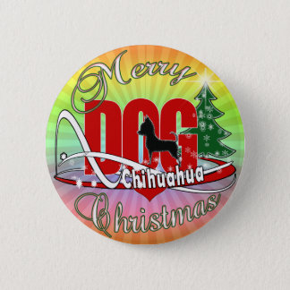 Chihuahua Merry Christmas 2 Inch Round Button