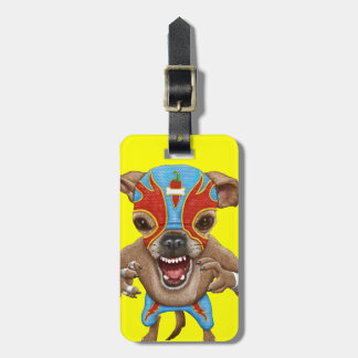 Chihuahua - Mexican wrestler Luggage Tag