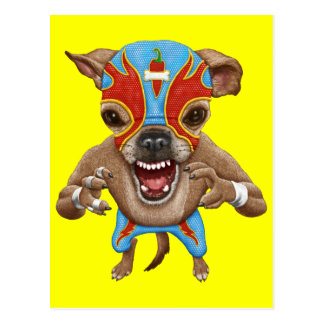 Chihuahua - Mexican wrestler Postcard