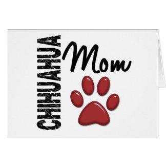 Chihuahua Mom 2 Greeting Card