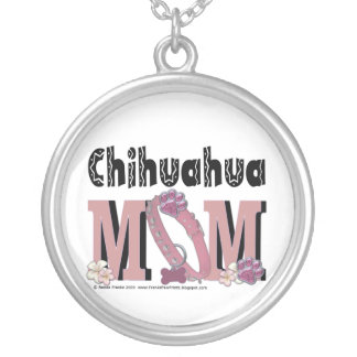 Chihuahua MOM Round Pendant Necklace