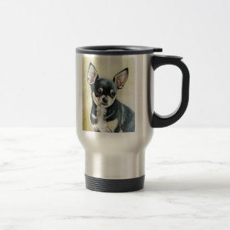Chihuahua Original Dog Art Travel Mug