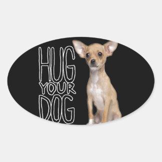 Chihuahua Oval Sticker