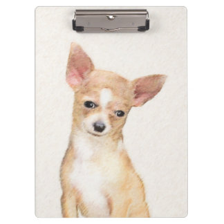 Chihuahua Painting - Cute Original Dog Art Clipboard