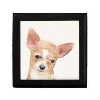 Chihuahua Painting - Cute Original Dog Art Gift Box