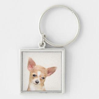 Chihuahua Painting - Cute Original Dog Art Keychain