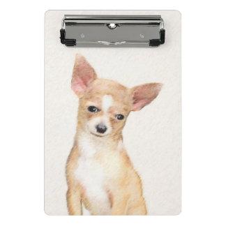 Chihuahua Painting - Cute Original Dog Art Mini Clipboard