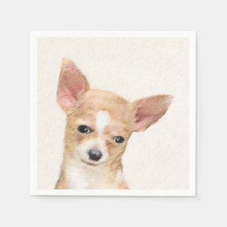Chihuahua Painting - Cute Original Dog Art Napkin