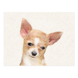 Chihuahua Painting - Cute Original Dog Art Postcard