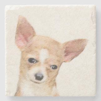Chihuahua Painting - Cute Original Dog Art Stone Coaster