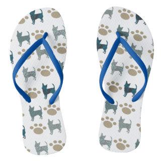 Chihuahua & Paw Flip Flops