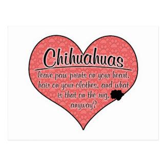 Chihuahua Paw Prints Dog Humor Postcard