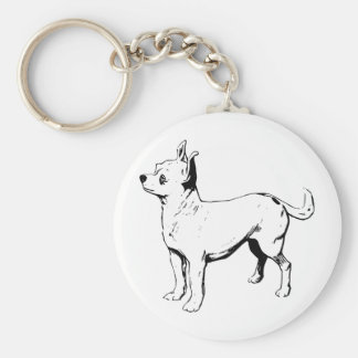 Chihuahua Pet Dog Basic Round Button Keychain