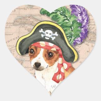 Chihuahua Pirate Heart Sticker