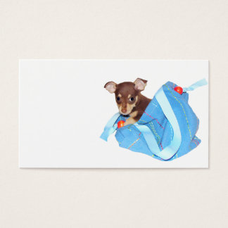 Chihuahua puppy business card