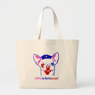 Chihuahua Revolution Large Tote Bag