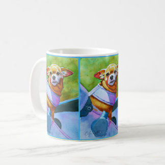Chihuahua Riding in Style Coffee Mug
