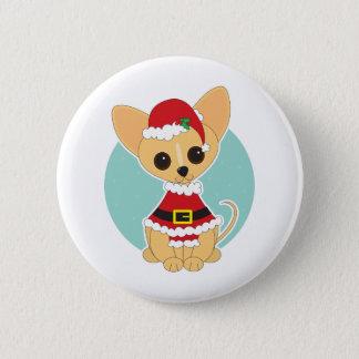 Chihuahua Santa 2 Inch Round Button