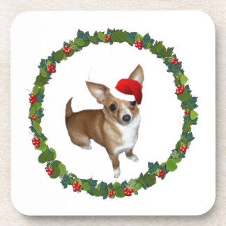 Chihuahua Santa Coaster