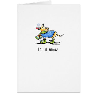 Chihuahua Scarf Let it Snow Christmas Greeting Card