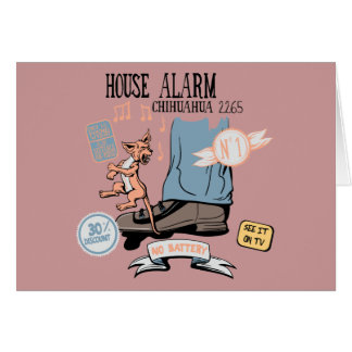 Chihuahua Security Alarm Funny New Invention Note Card