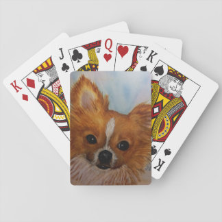 CHIHUAHUA SHIH TZU MIX PLAYING CARDS