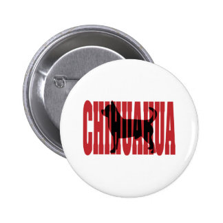 Chihuahua silhouette pinback button