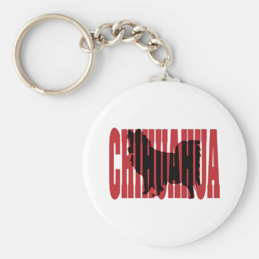 Chihuahua silhouette, long coat key chains