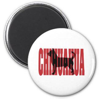 Chihuahua silhouette fridge magnet