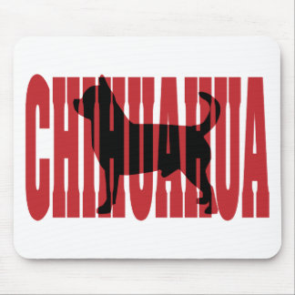 Chihuahua silhouette mouse pad