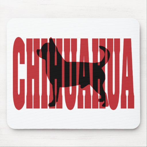 Chihuahua silhouette mouse mats