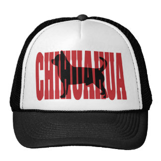 Chihuahua silhouette trucker hat