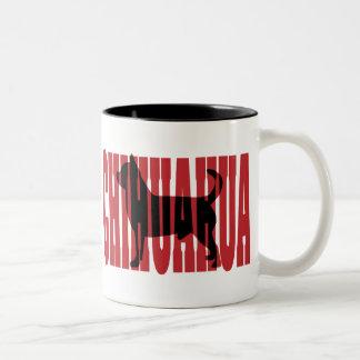 Chihuahua silhouette Two-Tone mug