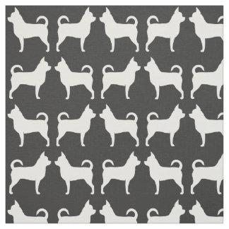 Chihuahua Silhouettes Pattern Fabric