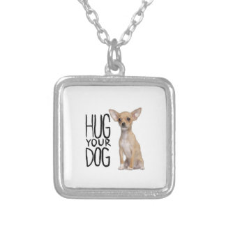 Chihuahua Silver Plated Necklace
