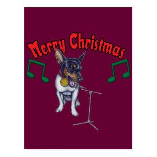 Chihuahua Sings Merry Christmas Postcards