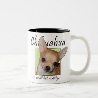Chihuahua, Small but Mighty Two-Tone Coffee Mug
