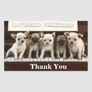 Chihuahua Thank You Puppy Dogs ( Chewawa Chiwawa ) Sticker