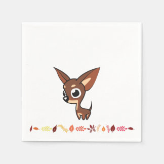 Chihuahua Thanksgiving Paper Napkins