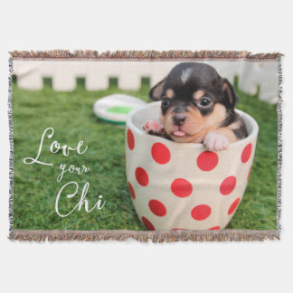Chihuahua Throw Blanket Love Your Chi ADD PHOTO