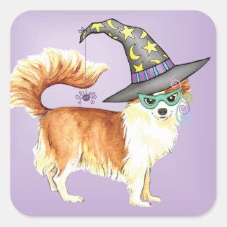 Chihuahua Witch Square Sticker