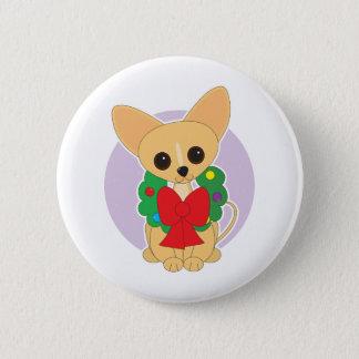 Chihuahua Wreath 2 Inch Round Button