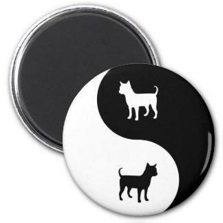 Chihuahua Yin Yang Magnet