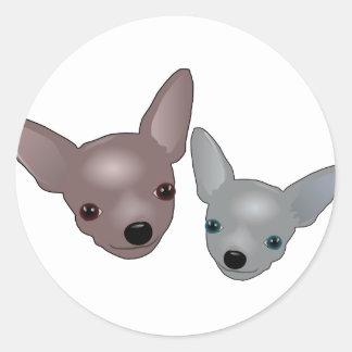 Chihuahuas Classic Round Sticker